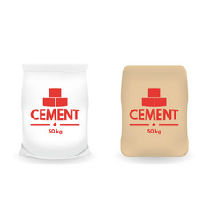paper sacks or bags of cement vector image