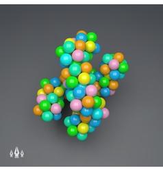 3D Molecule Structure Science Technology Design vector image