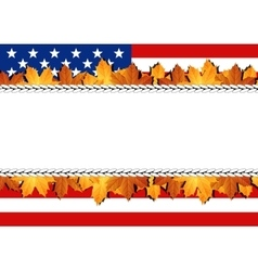 American Flag Banner vector image vector image