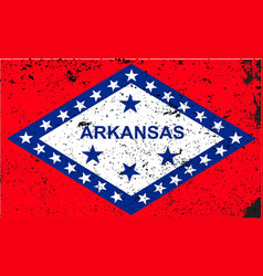 arkansas flag vector image vector image