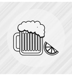 delicious beer design vector image