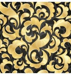 golden seamless wallpaper vector image vector image