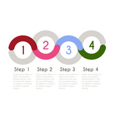progress chart statistic concept infographic vector image vector image