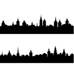 silhouettes of european city vector image