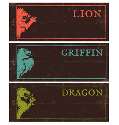 vintage dark banners for games vector image