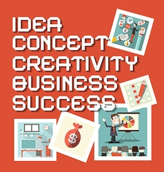 Idea Business Creativity Concept Success Titles vector image vector image