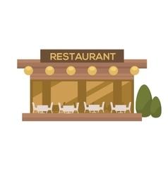 restaurant in flat design vector image vector image