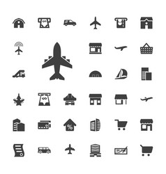 33 commercial icons vector