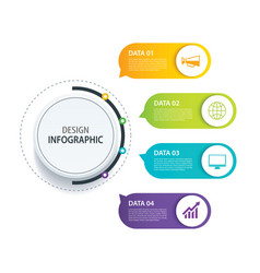 4 infographic design and marketing iconcan be vector