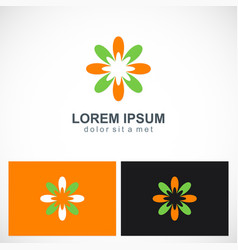 abstract colorful flower logo vector image