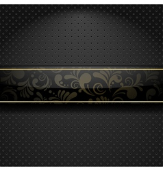 Abstract floral banner vector