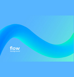 Abstract futuristic flow background wave pattern vector