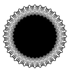 Abstract geometric art with circular motif vector