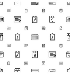 Agenda icons pattern seamless white background vector