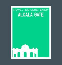 alcala gate madrid spain monument landmark vector image