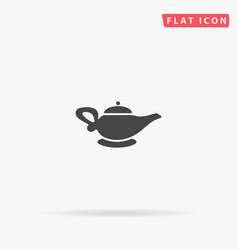 Alladin lamp flat icon vector
