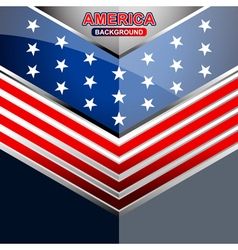 america geometric backgrounds template vector image