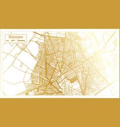 Batman turkey city map in retro style in golden vector