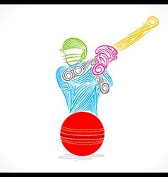Batsmen hit ball banner design vector