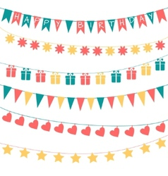 Birthday garlands vector image
