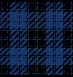 Blue and black tartan plaid seamless pattern vector