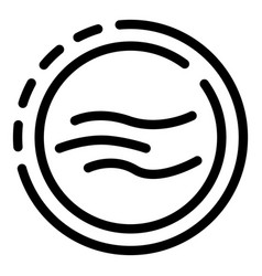 Body bending in a circle icon outline style vector