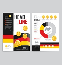 Brochure flyer magazine cover booklet poster desig vector
