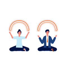 business people meditation clean mind brain vector image