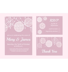 cards with lace baubles vector image