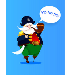 cartoon one-legged character pirate vector image