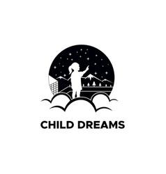 Child dreams vector