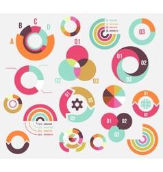 Circle charts vector
