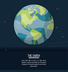 colorful poster with planet earth vector image