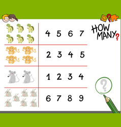 counting game with animals vector image