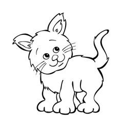 cute kitten cartoon vector image