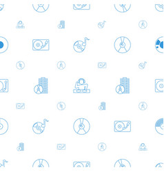 disc icons pattern seamless white background vector image