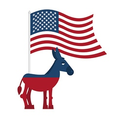 Donkey Democrat Symbol of political party in vector image