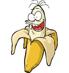 doodle crazy banana vector image