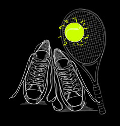 Drawing isolated objects sneakers vector