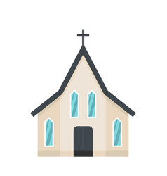 Easter church icon flat style vector