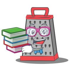 Geek kitchen grater character cartoon vector
