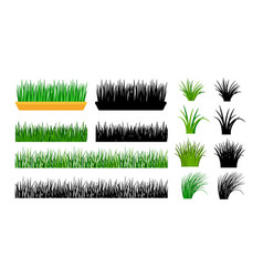 green grass gardening elements vector image