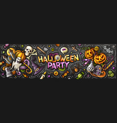 happy halloween cartoon vector image