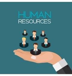 Human Resources Concept Flat Design vector