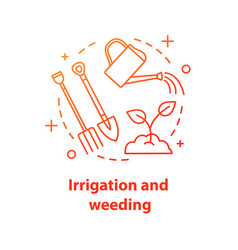 Irrigation and weeding concept icon vector
