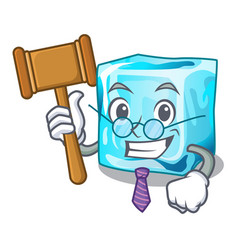 Judge ice cubes on the cartoon funny vector