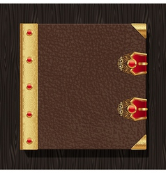 Leather vintage book hardcover vector image