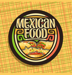 Logo for mexican food vector