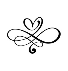 Love heart in sign infinity sign on vector