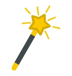 Magic wand icon flat style vector